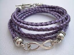 infinity braid bracelet images Leather bracelet infinity bracelet metallic purple and lavander jpg