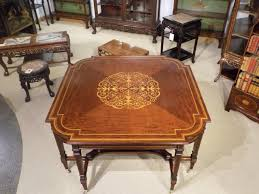 antique centre table designs a large and rare mahogany inlaid edwardian period antique centre