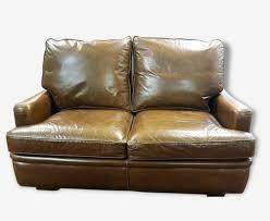 type de canapé canapé convertible cuir havane type cuir marron vintage