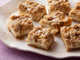 caramel apple cheesecake bars with streusel topping recipe paula