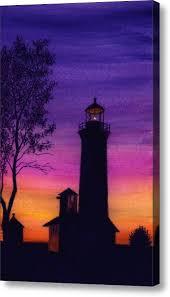 tibbetts point lighthouse acrylic print by michael vigliotti