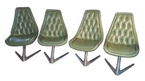 chromcraft sculpta trek chairs set of 4 chairish