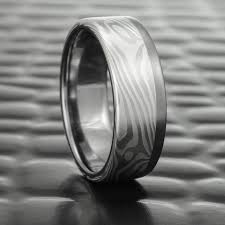 wedding band material twisted wood contemporary men s wedding band in palladium
