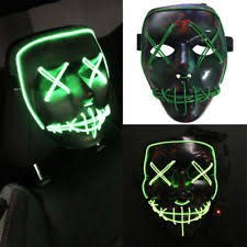 Led Light Halloween Costume Led Dj Mask Ebay