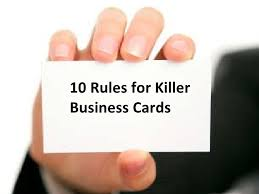 cards for business for business 10 for killer business cards 2009 edition
