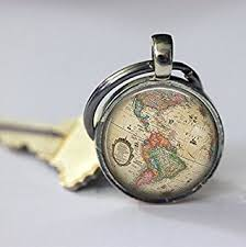 unique key ring world map keychain world map keychain world map