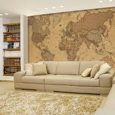 amazon wall antique monochrome vintage political world amazon wall antique monochrome vintage political world map wallpaper mural removable sticker home decor inches kitchen