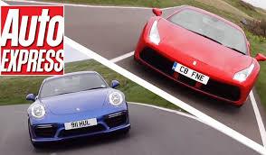 vs porsche 911 turbo 488 gtb vs porsche 911 turbo s the battle of the