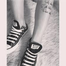shin tatoos shin tattoo saying
