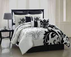 Damask Comforter Sets Amazon Com 9 Piece Queen Arroyo Black And White Bedding Comforter