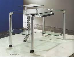modern glass work desk modern glass desk stylish computer cr55 desks within 19 interior