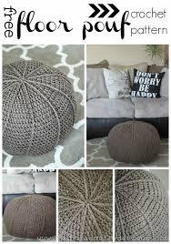 Crochet Ottoman Free Crochet Floor Pouf Pattern Dragonfly Designs