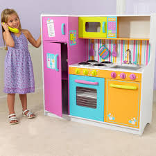 Kitchens For Toddlers by Kidkraft Deluxe Pastel Play Kitchen 53181 Hayneedle