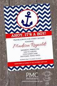 nautical baby shower invitations chevron nautical baby shower invitations 1 00 each with envelope