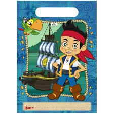 jake and the neverland pirates birthday invites amazon com disney jake and the never land pirates treat bags 8