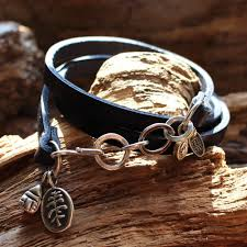 leather bracelet with silver charms images The cottage quot sterling silver charms leather bracelet celebrating jpg