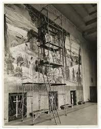 El Mural by Leon Kroll Pintando El Mural En El Painting A Mural In The