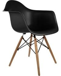 Retro Accent Chair Savings On Retro Eames Style Wood Accent Chair With Arms Black