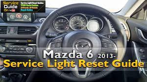 mazda 6 service light reset youtube