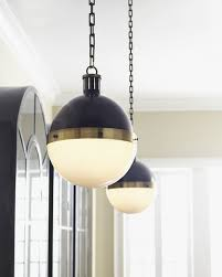 black globe pendant light visual comfort hicks bronze with antiqued brass pendant light