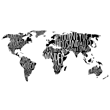 Map Quotes Amazon Com World Map With Travel Quotes In Black Custom Vinyl