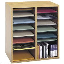 Desk Cubby Organizer Small Wood Adjustable Compartment Literature Organizer Products