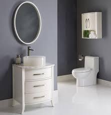 gray bathroom accessories dark brown varnished wooden frame