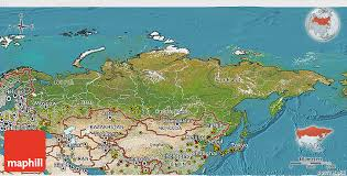 russia in maps satellite 3d map of russia