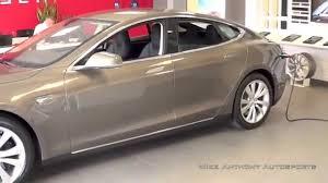 tesla model s close look at new titanium metallic paint youtube
