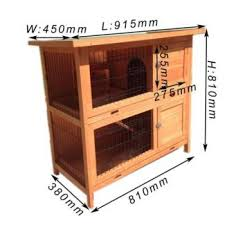 Double Decker Rabbit Hutch Double Storey Rabbit Hutch With Run Guinea Pig Ferret Cage Pet