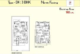North Facing Floor Plans Overview Water Front At Hyderabad Sai Sumitra Builders