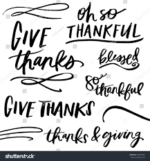 thanksgivings quotes give thanks quotes thanksgiving quotes modern stock vector