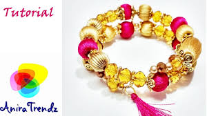 make bracelet with thread images How to make silk thread bracelet at home simple easy beautiful jpg