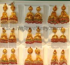 gold jhumka earrings design with price gold jhumkas by khazana jewellery designs