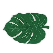 monstera leaf area rug playful home decor colorful accents