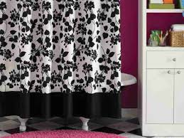 Black And White Curtain Designs Black And White Floral Shower Curtain Black And White Shower