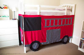 Fire Engine Bed A Thousand Words Diy Fire Engine Bunk Bed