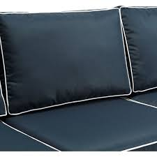 Crosley Furniture Outdoor Crosley Ko70049wb Nv Bradenton Outdoor Wicker Sofa W Navy Cushions