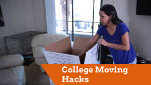 college moving hacks youtube