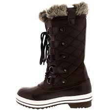womens boots quilted womens boot winter fur lined warm quilted