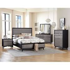 Gray  Black Contemporary  Piece Queen Bedroom Set Raku RC - Bedroom sets at rc willey