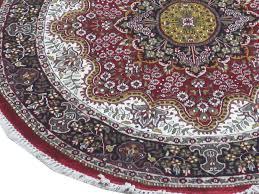 6x6 Rug Rich Floral Persian Design Rug For Sale Kashmir Silk Round