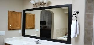 Framed Bathroom Mirrors Ideas Black Frame Bathroom Mirror Top Bathroom Choose A Frame With