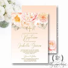 religious invitations baptism invitation pastel floral invitation cross religious