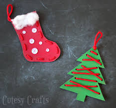 craft for lacing ornaments cutesy crafts