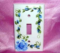 painted light switch covers new hand painted light switch plates for blue rose light switch