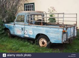 old land rover truck old land rover parked outside house on la palma island in the