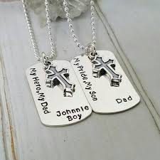 customized dog tag necklace and matching set sterling silver dog tags 2