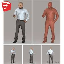 free high quality 3d human model for sketchup