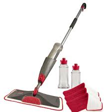 amazon com rubbermaid reveal spray mop kit 1892663 home u0026 kitchen